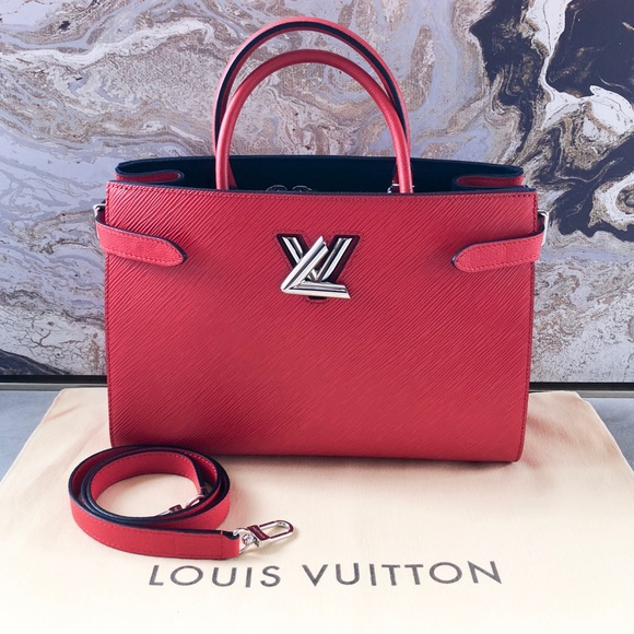 b5ea16b830c1 Louis Vuitton Bags | Twist Lock Epi Red Leather Tote | Poshmark